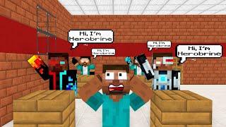 Monster School: BREWING HEROBRINE CHALLENGE - Minecraft Animation