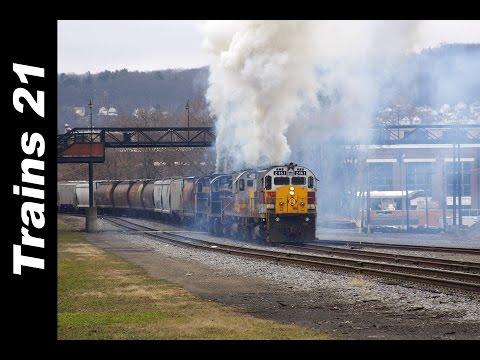 5 ALCO Diesels Hit Their Train.... HARD!