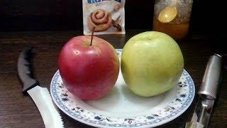 Яблоки печеные в духовке с медом и корицей.