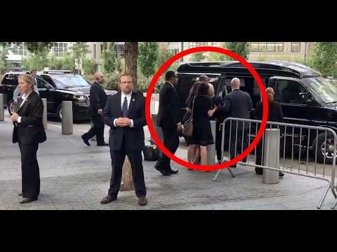 Hillary Clinton's health becomes a concern as she  collapses  at 9/11 memorial.
