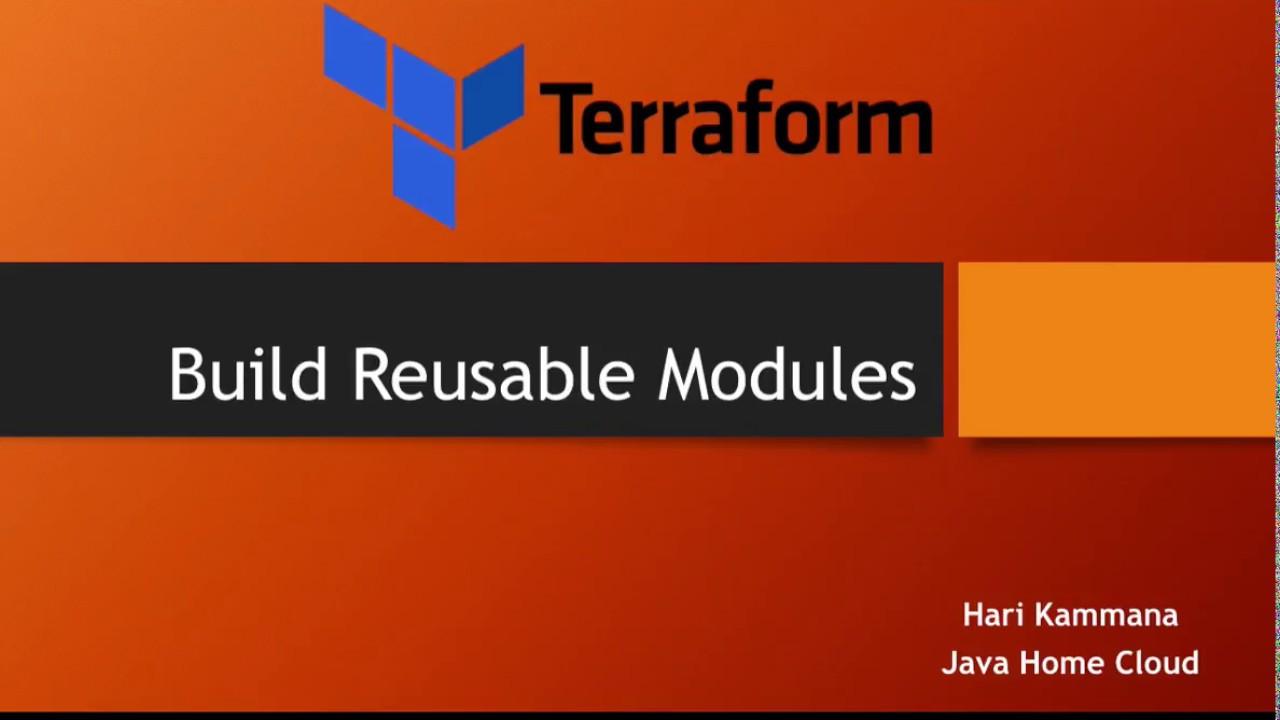 Terraform : AWS - How to build reusable terraform modules with example