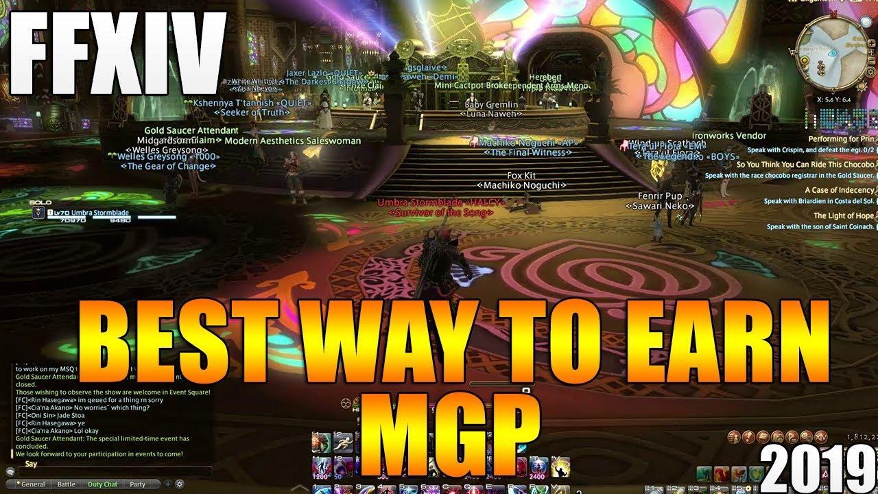 best way to get mgp ffxiv
