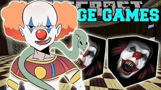 PopularMMOs Pat and Jen Minecraft  DEVIL CLOWN CHALLENGE GAMES   Lucky Block Mod   Modded Mini Game