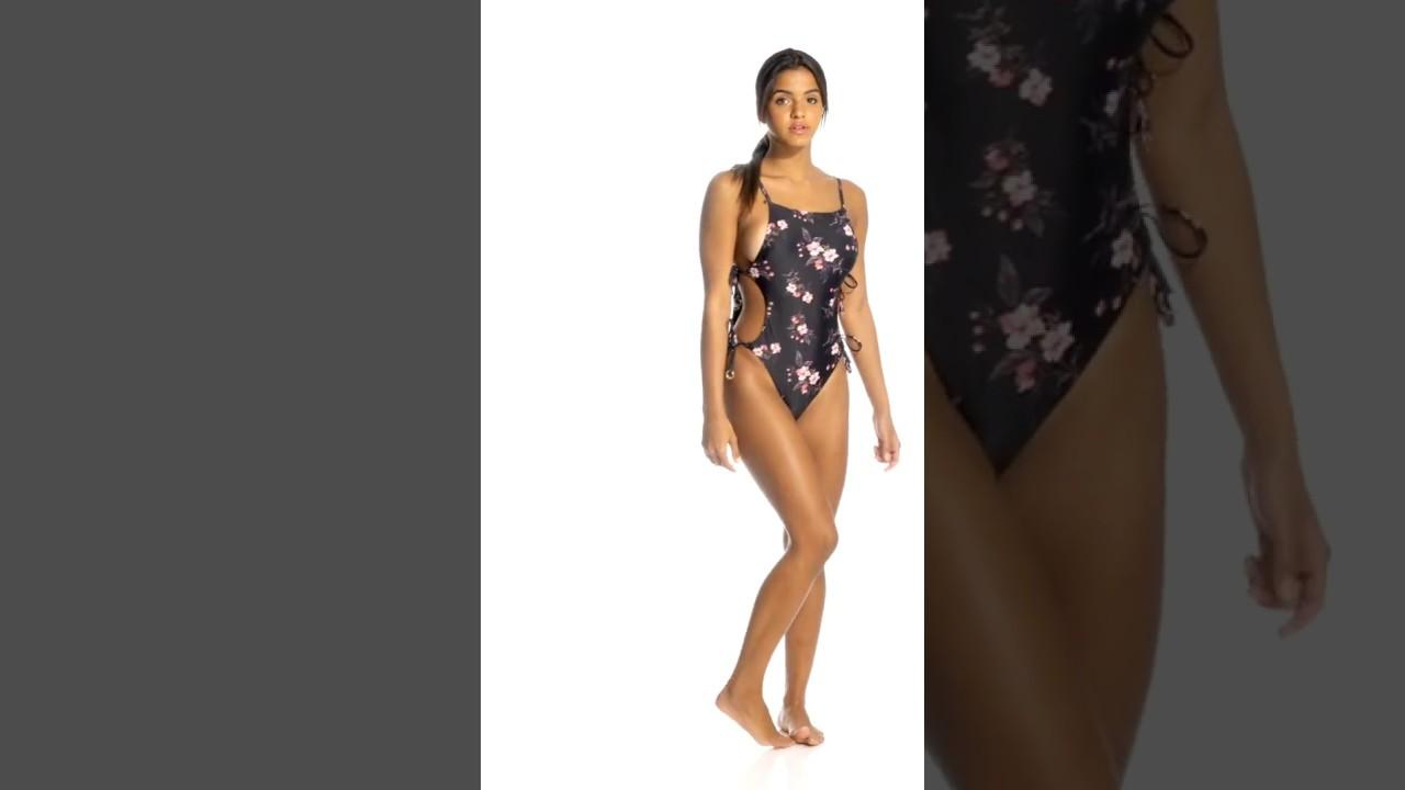 386a403d9f8d9 MINKPINK Jasmine Tie Side One Piece Swimsuit | SwimOutlet.com - YouTube