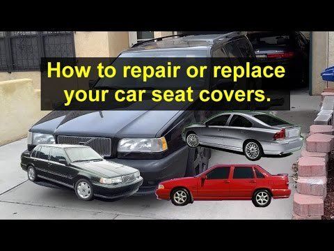 Car seat cover repair or replacement for leater or cloth seats.