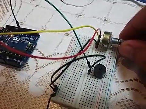 arduino buzzer with potentiometer youtubearduino buzzer with potentiometer
