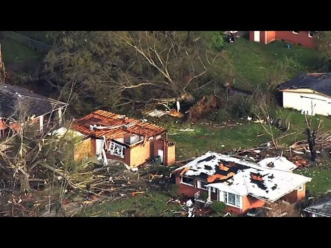Raw: Spring Storms Leave Thousands Powerless in NC