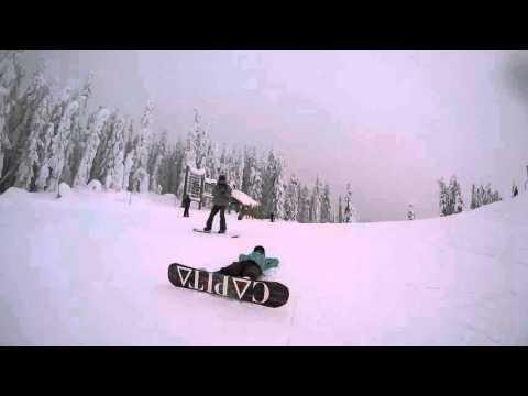 Snowboarding at Snoqualmie Pass - GoPro Hero4