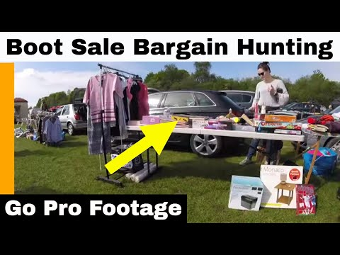 Car Boot Sale Bargain Hunting - Go Pro Footage - We Filled The Car....