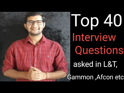 Top Most Interview Questions Asked In L&T ,Afcon Etc | Civil Engineering Basic Interview Questions