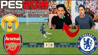 !!RETO PES 2019!! Chelsea vs Arsenal ⚽️⚽️!! CON CASTIGO DOLOROSO 😓😱( Epic reto)