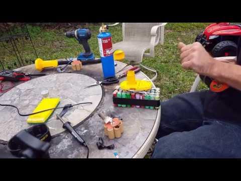 Replacing Old School Dewalt Batteries With Recycled Laptop Batteries
