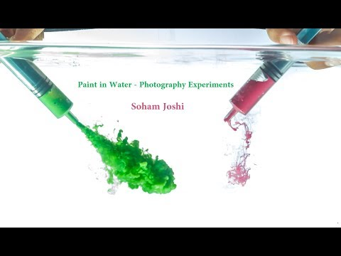Paint in Water Photography Fun experiments