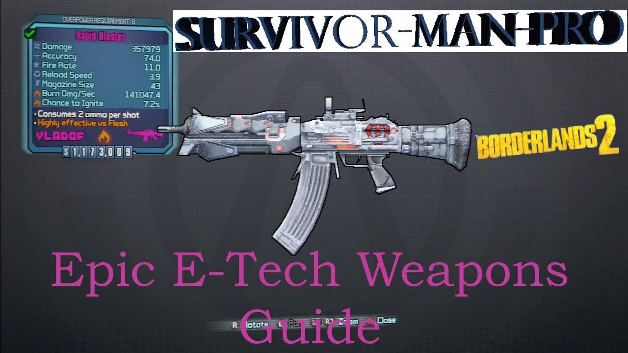 Locations E Borderlands Weapon 2 Tech