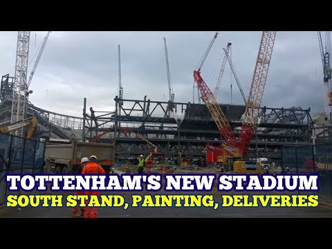 TOTTENHAM'S NEW STADIUM UPDATE: South Stand, Painting Started, Deliveries Galore - 11 October 2017