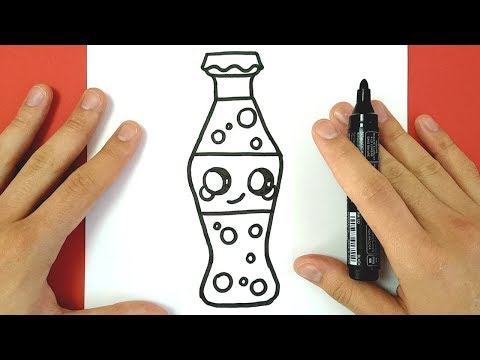 HOW TO DRAW CUTE COCA COLA BOTTLE EASY