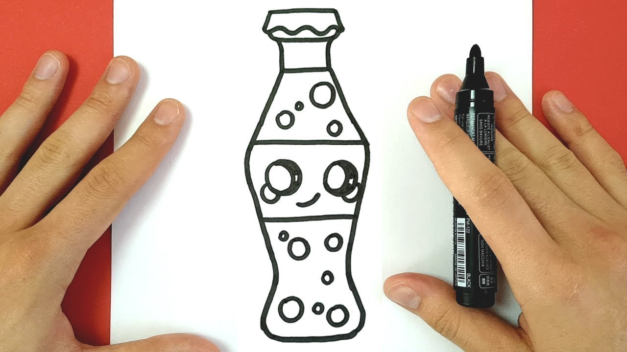 how to draw cute coca cola bottle easy youtube