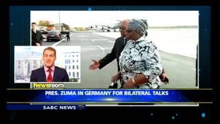 President Zuma in Germany for bilateral talks