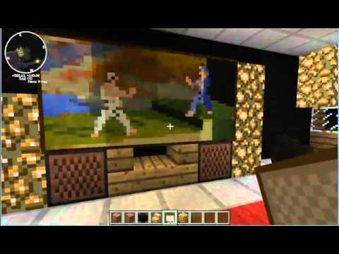 Minecraft tutorial 1 how to build modern living room - How to make a nice living room in minecraft ...