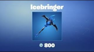 "The Ice Queen's Pickaxe ""Icebringer"" avec Edit Styles! - PS4 Fortnite Player CODE: ""DREWQUA"""