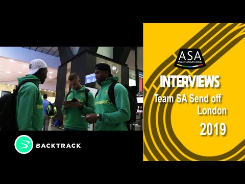 Senior SA Team Send-off to London World Champs 2017