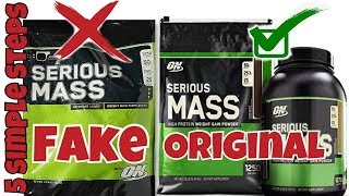 5 SIMPLE STEPS TO IDENTIFY FAKE PROTIEN SUPPLEMENTS LIKE SERIOUS MASS MUSCLE TECH AND ANY MASSGAINER