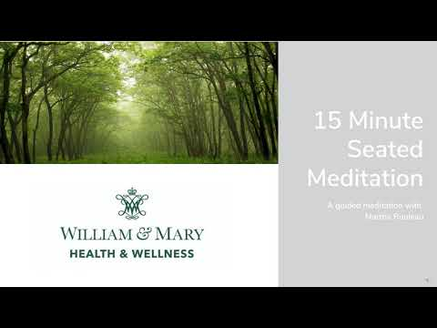 15 Minute Seated Meditation