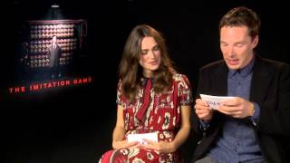 Repeat youtube video Benedict Cumberbatch & Keira Knightley FUNNY INTERVIEW