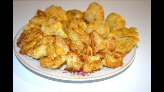 Цветная капуста, Рецепт жареной цветной капусты, РЕЦЕПТЫ, Как приготовить цветную капусту