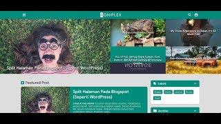 Panduan Install IGNIPLEX - Blogger Template Premium