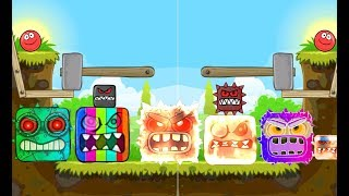 Red Ball 4 : Fire Boss & Rainbow Boss 'ALL VOLUME ' with Red Ball