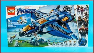 LEGO Avengers Ultimate Quinjet 76126 Construction Toy   UNBOXING