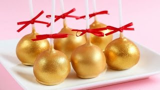 How To Make Gold Cake Pops- Rosie's Dessert Spot