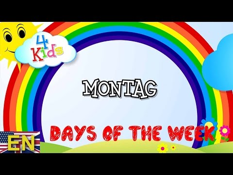Weekdays learning for children - days from Monday to Sunday (english) Educational Video