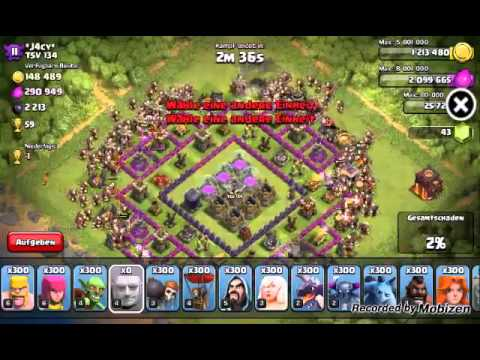 300 Riesen vs rh10 [Clash of clans]