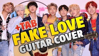 BTS (방탄소년단) FAKE LOVE (fingerstyle guitar cover +TAB +Discography +BIO)