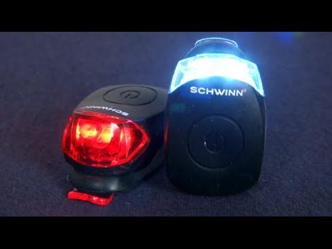 Schwinn 11 lm Quick Wrap Front /& Rear Light Set Black New