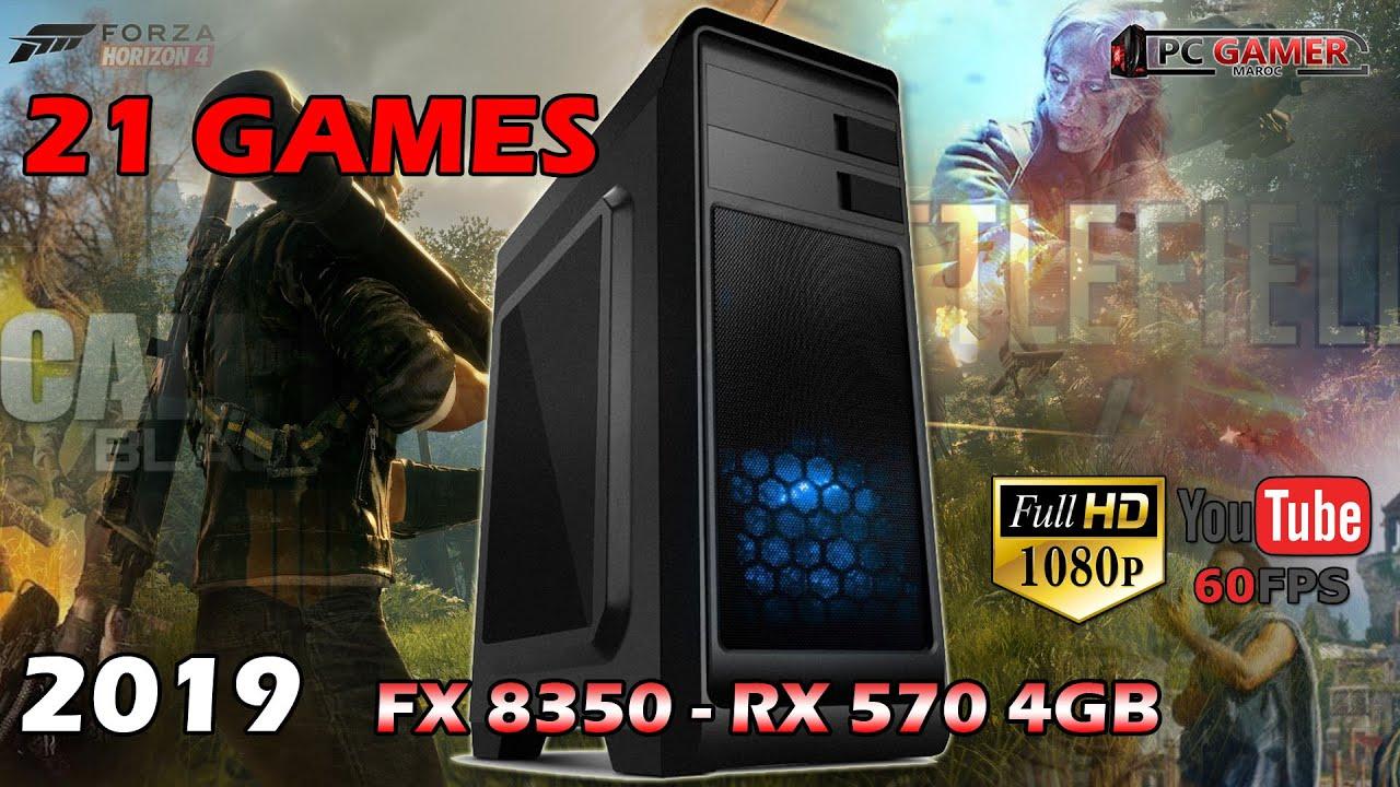 21 Games on PC GAMER FX 8350 RX 570 4GB 1080P ultra High Settings