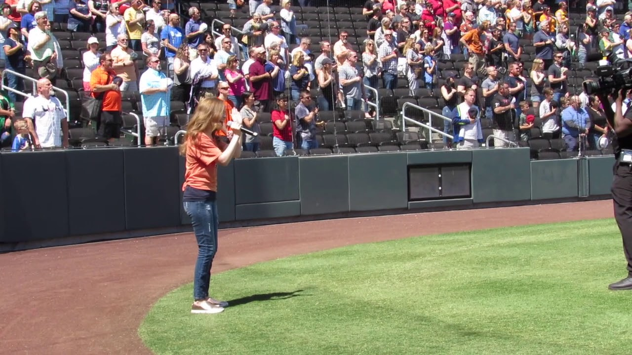 Reese Carter singing The Star-Spangled Banner for the Las Vegas Aviators  4/14/19@ 16 yrs old