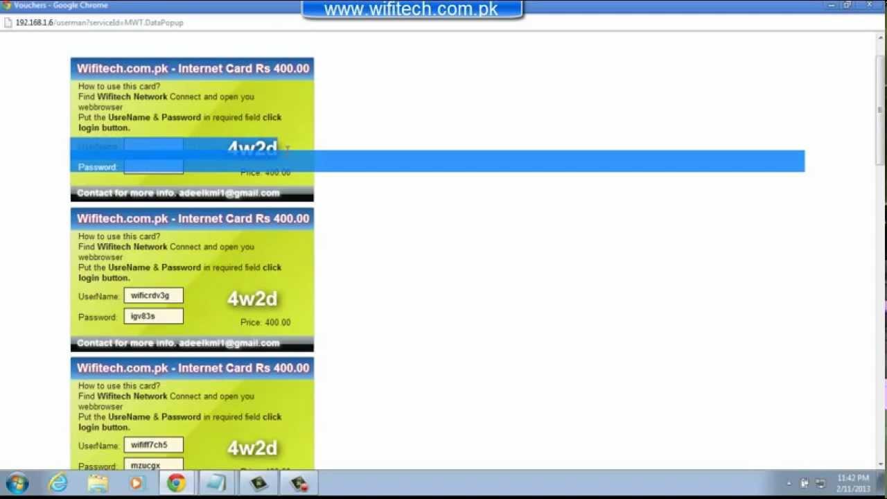 Mikrotik Voucher Template | Scratch Card system in UM