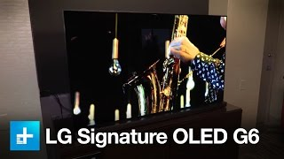 lg signature oled g6 hands on at ces 2016
