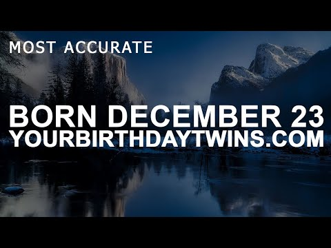 Born on December 23 | Birthday | #aboutyourbirthday | Sample