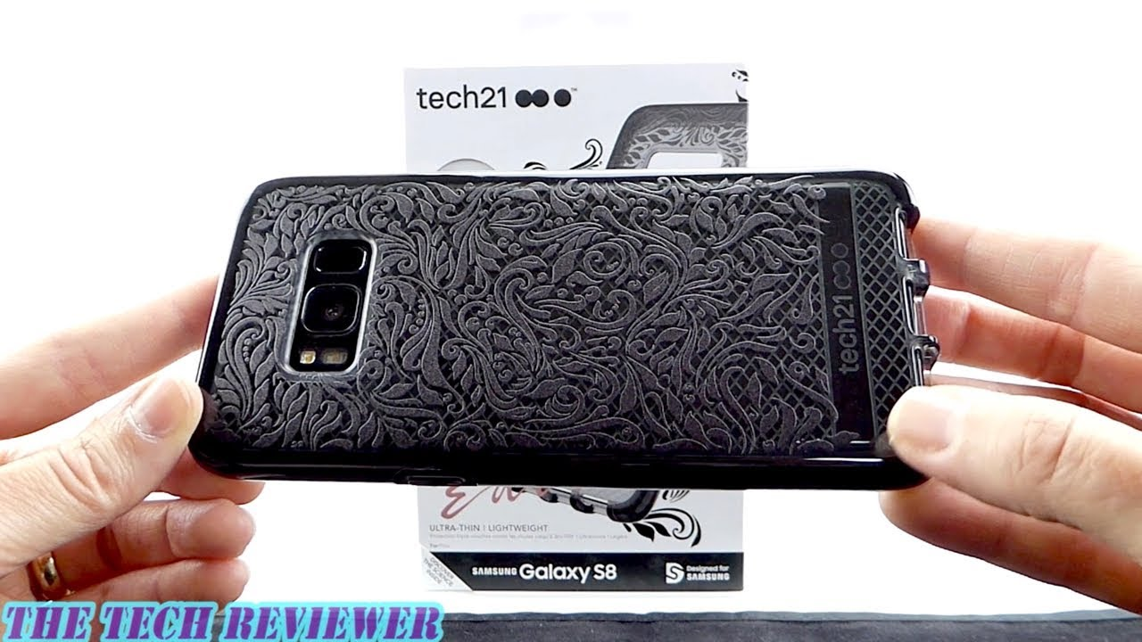 sale retailer 92e3e 85780 Tech21 Evo Check Lace Edition For Galaxy S8: Stylish, Fewer Fingerprints &  10 Ft Drop Protection!