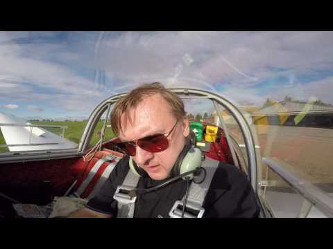 motor glider 43 solo flight Husbos Enstone (leg2)