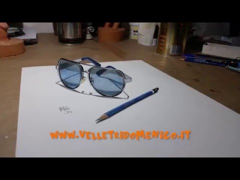 9c28df19c7c1 Drawing time lapse my sunglasses and pencil 4B - 3D Art