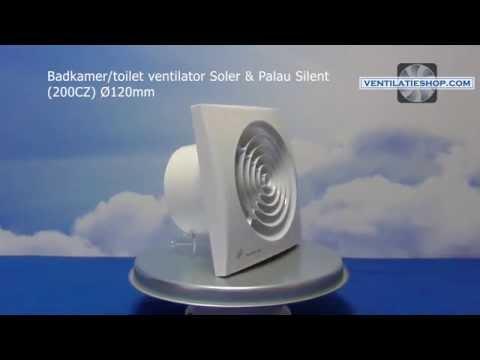 Badkamer Ventilator Test : Badkamer toilet ventilator soler & palau silent 200cz Ø120mm