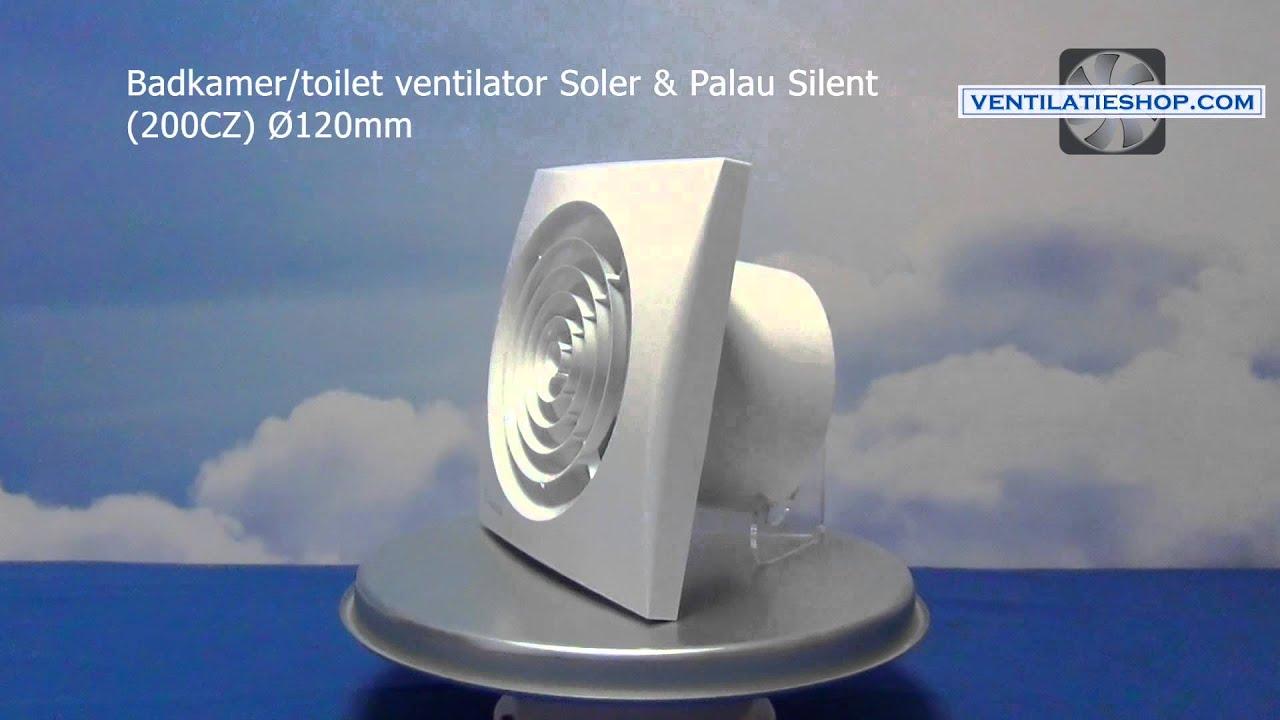 Badkamer/toilet ventilator, Soler & Palau Silent (200CZ) Ø120mm ...