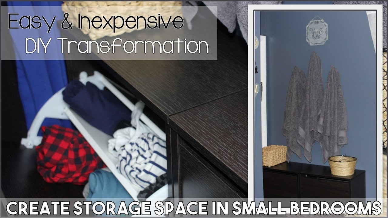 How To Create Storage Space In A Small Bedroom   Easy U0026 Inexpensive  Organization Ideas
