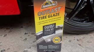 Armor All Outlast Tire Glaze Review and Test Results on my 2009 Nissan 370z.
