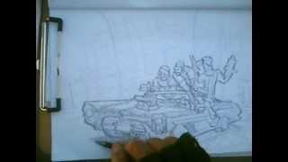WestSide,street gang Quick Sketch series